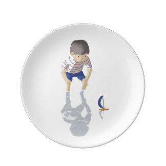 Sea boy porcelain plate