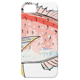 Sea Bream Red Sketch Case For The iPhone 5