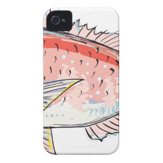 Sea Bream Red Sketch Case-Mate iPhone 4 Case