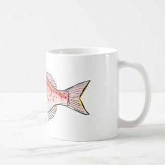 Sea Bream Red Sketch Coffee Mug