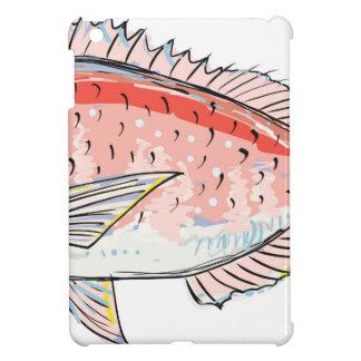 Sea Bream Red Sketch iPad Mini Case