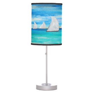 Sea breeze sails sailboats table lamp