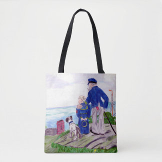Sea Captain and Grandson Tote Bag