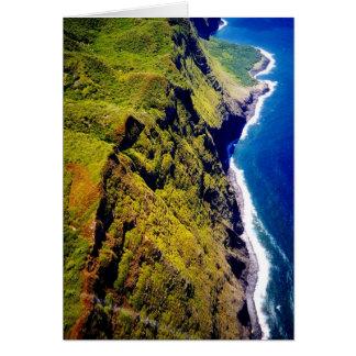 Sea Cliffs of Molokai - blank note card