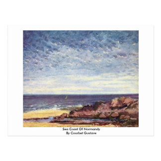 Sea Coast Of Normandy By Courbet Gustave Postcard