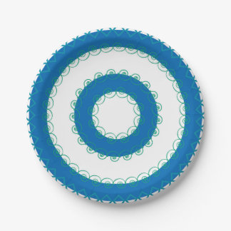 Sea Colored Paper Plates 7 Inch Paper Plate