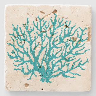 Sea Coral Beach Stone Beverage Coaster Gift