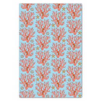 Sea coral, Sand dollar and starfish Tissue Paper