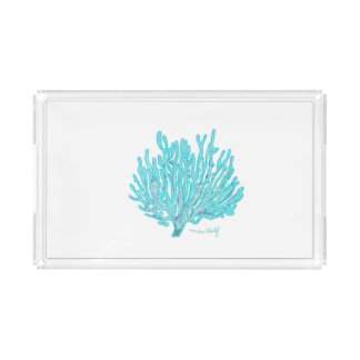 Sea coral serving trat acrylic tray