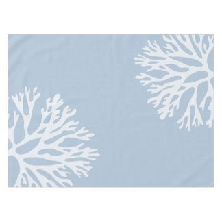 Sea Coral Silhouettes (Weathered Blue) Tablecloth