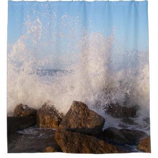Sea Crashing Over Rocks
