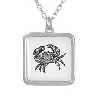 Sea Crawl Silver Plated Necklace