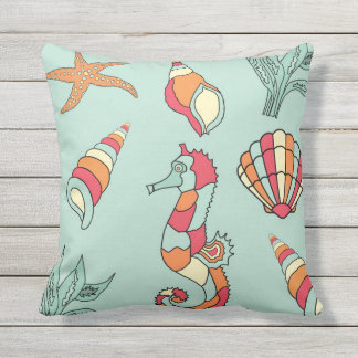 Sea creatures and nautical pillows