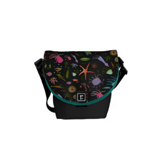 Sea Critters Pattern Commuter Bag
