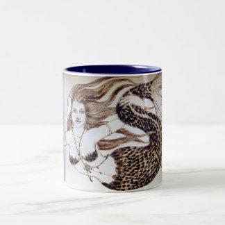 Sea Dancer Serious Coffee in Blue-Winter Sale! Two-Tone Coffee Mug