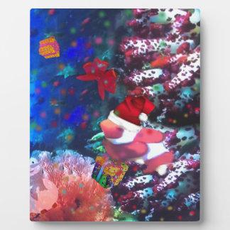 Sea depth in Christmas season Plaque