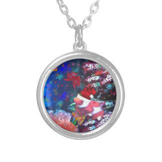 Sea depth in Christmas season Silver Plated Necklace