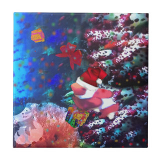 Sea depth in Christmas season Tile