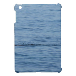 Sea diver in scuba suit swim in water iPad mini cover