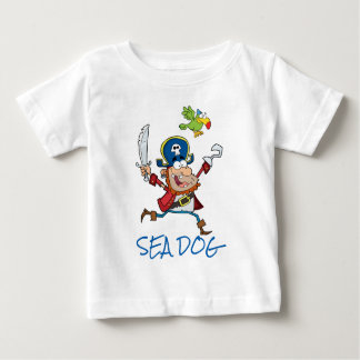 SEA DOG PIRATE AND PARROT BABY T-Shirt