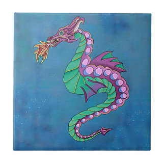 Sea Dragon Art Tile