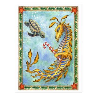 Sea Dragon-Sea Turtle Xmas postcard