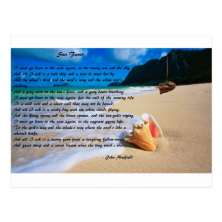 Sea Fever by: John Masefield Postcard