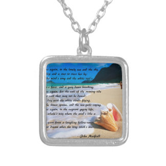 Sea Fever by: John Masefield Silver Plated Necklace