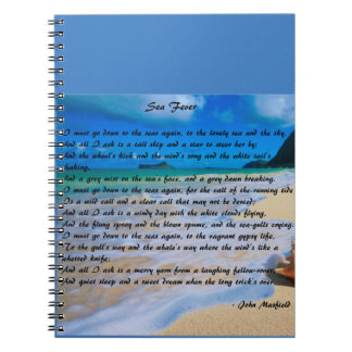Sea Fever by: John Masefield Spiral Notebook