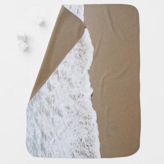 Sea foam, Ocean Waves Baby Blanket