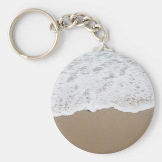 Sea foam, Ocean Waves Basic Round Button Keychain