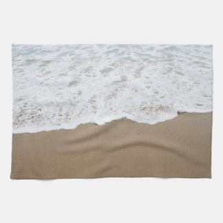 Sea foam, Ocean Waves Kitchen Towel