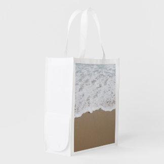 Sea foam, Ocean Waves Reusable Grocery Bag