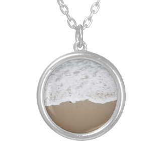 Sea foam, Ocean Waves Silver Plated Necklace