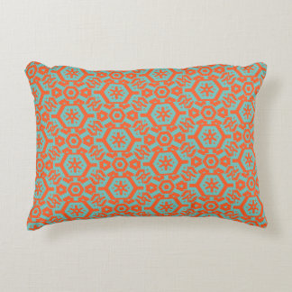 Sea foam Orange Geometric 4Ophelia Decorative Pillow