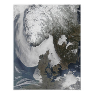 Sea Fog in Scandinavia Poster