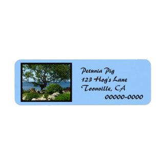 Sea Garden Tree Return Address Label