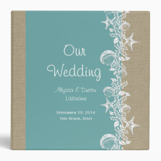 Sea Garland Beach Wedding Binder