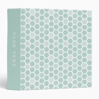 Sea Geometric Hexagon Pattern Vinyl Binder