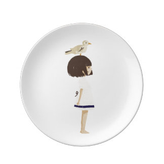 Sea girl 2 porcelain plate