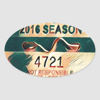 Sea Girt Beach Badge Oval Sticker