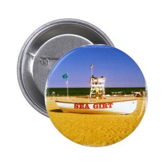 Sea Girt Lifeguard Boat 2 Inch Round Button