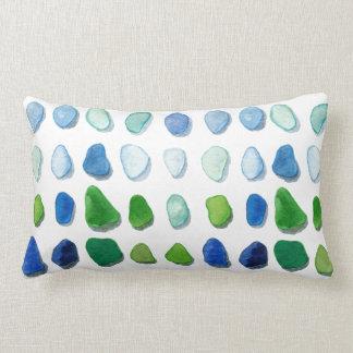 Sea glass, beach glass art lumbar pillow
