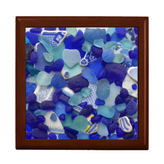 Sea glass, beach glass art photograph keepsake box