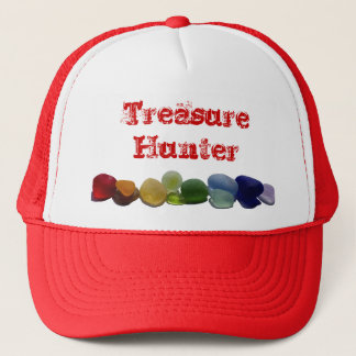 Sea glass, beach glass rainbow baseball cap