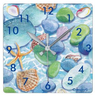 Sea glass clock