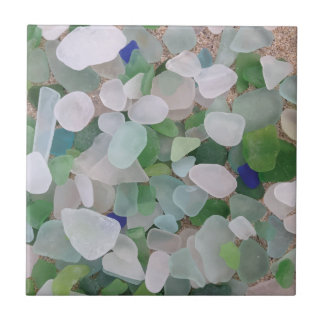 Sea glass from the ocean tile
