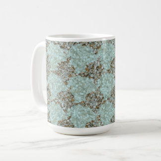 Sea-glass & Gems_Roses_Turquoise-Deep Gold Coffee Mug