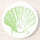 Sea Glass Green Seashell Coaster