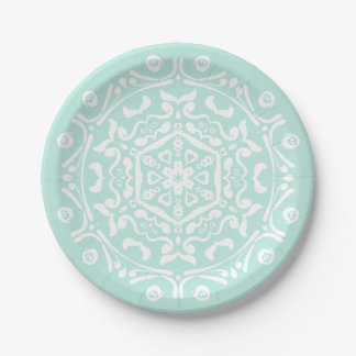 Sea Glass Mandala 7 Inch Paper Plate